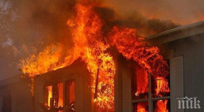 Дядо едва не загина в пожар в Несебър
