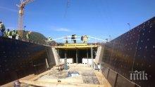 """Първите 400 м от тунел """"Железница"""" на АМ """"Струма"""" са прокопани"""