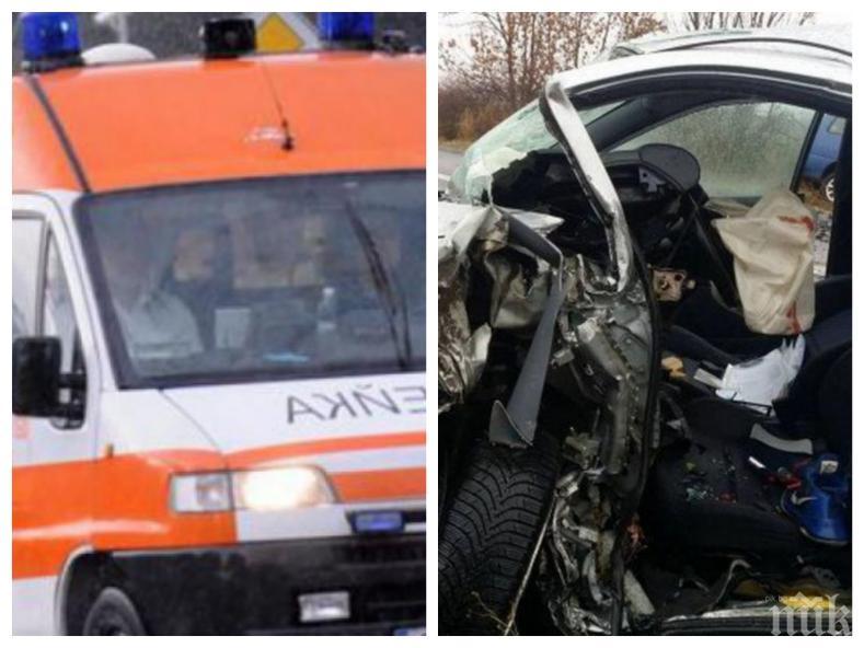 КРЪВ НА ПЪТЯ! 25-годишен загина при удар на колата си в крайпътно дърво