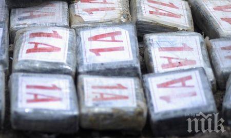 Откриха 5 тона кокаин в самоделна подводница