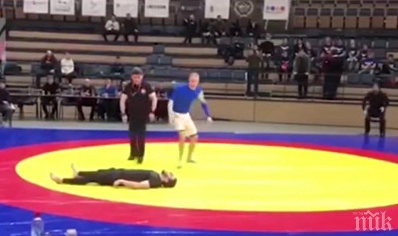 ШОКИРАЩО ВИДЕО: Строшиха врата на борец по време на турнир