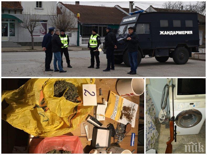 СЛЕД СПЕЦАКЦИЯТА В ТЪРНОВСКО: 6 разкрити кражби, 9 арестувани, 13 обвиняеми за наркотици и грабежи (ВИДЕО/СНИМКИ)