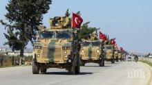 Голям турски военен конвой влезе в Идлиб