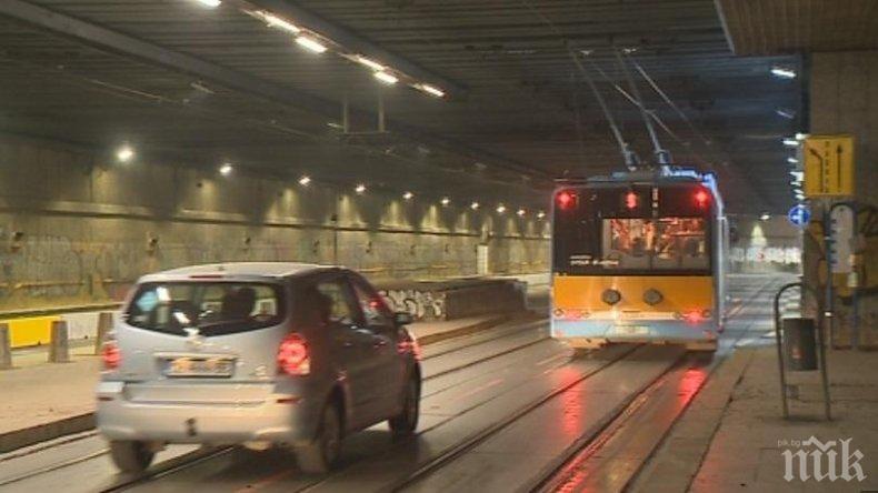 Променят движението на тролейбусите в тунела на НДК