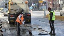 Мият масово улици в София