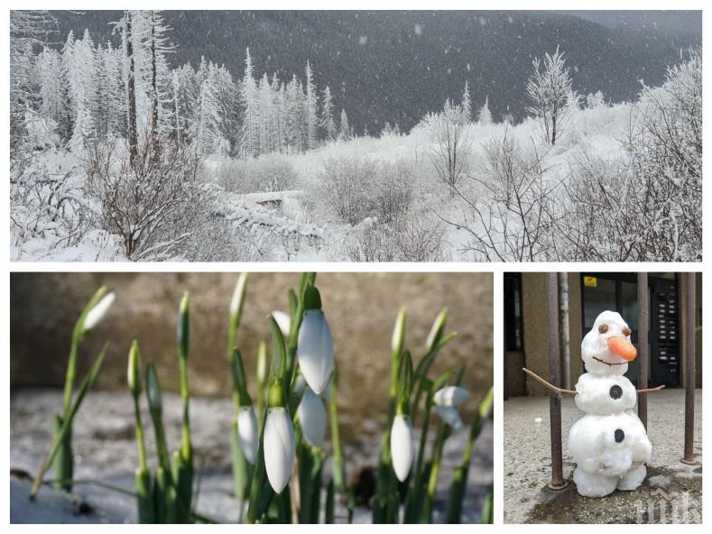 ЗИМАТА СЕ ЗАВРЪЩА! Температурите падат още, дъждът се обръща на сняг, но Баба Марта обърква сметките...