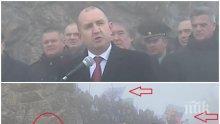"""САМО В ПИК: Радев се събра с Копейкин на Шипка и се окъпа в любовта на ултрасите на """"Възраждане"""" с партийни знамена и руски флагове (СНИМКИ)</p><p>"""