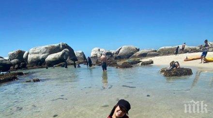 Нина Добрев плажува в ЮАР