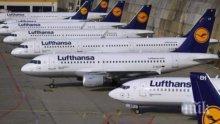"""БЕЗПРЕЦЕДЕНТНО: """"Луфтханза"""" спира 150 полета заради коронавируса"""