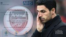 ПАНИКА ВЪВ ВИСШАТА ЛИГА: Мениджърът на Арсенал с коронавирус! Затварят клубната база, всички са под карантина - какво се случва с шампионата?