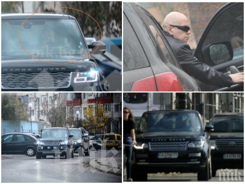 НАГЛОСТ: Слави Трифонов заварди ресторанта на Домусчиев с 8 човека охрана - заприщва улици с джипове като нарко барон (СНИМКА)