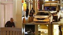 ПЪРВО В ПИК: Ето какво се случва на Лъвов мост в София - униформени завардиха хотел заради английски туристи от Банско (ЕКСКЛУЗИВНИ СНИМКИ)