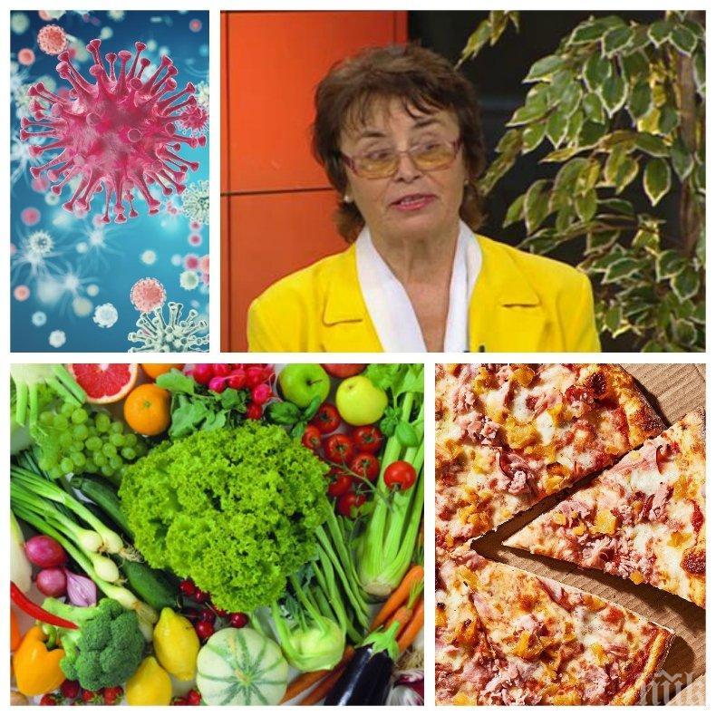 САМО В ПИК: Топ експертът по храните д-р инж. Лазарина Герова за диетата при епидемия: Храната е лекарство - спрете да ядете боклуци! Ядките помагат, но колбасите са пълни с нитрати и вредни