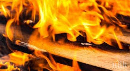 Обор с 18 животни изгоря посред нощ в Харманли
