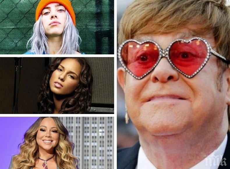 Срещу коронавируса: Сър Елтън Джон организира благотворителен телевизионен концерт