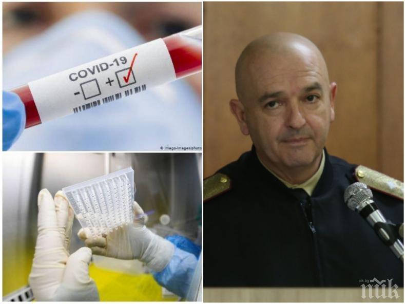 ПЪРВО В ПИК TV: Ген. Мутафчийски с последни данни - заразените с коронавирус у нас са 185, пикът се очаква до 3 седмици (ВИДЕО/ОБНОВЕНА)