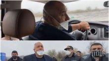 ПЪРВО В ПИК TV: Борисов тръгна към турската граница заради опашката от тирове - до 24 часа буферният паркинг ще е готов (ВИДЕО/ОБНОВЕНА/СНИМКИ)