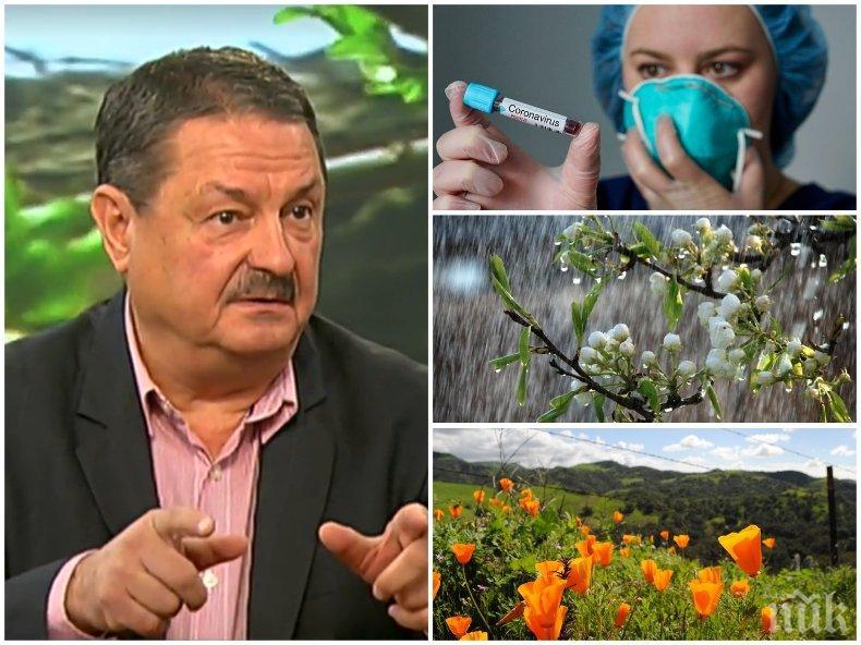 Топ климатологът проф. Георги Рачев: Посрещаме април с перфектно време за коронавирус! Ето какви са прогнозите за Цветница и Великден