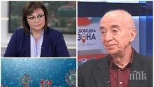 Социалистът проф. Захариев разби Корнелия Нинова: Спаси кожата като лидер на БСП заради коронавируса