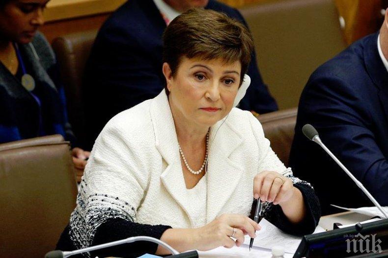 Кристалина Георгиева: Световната икономика е навлязла в период на рецесия