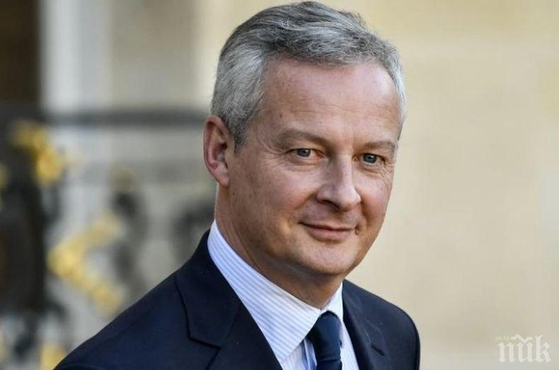Финансовият министър на Франция: По-добре да натрупаме дълг, отколкото да допуснем крушение на икономиката