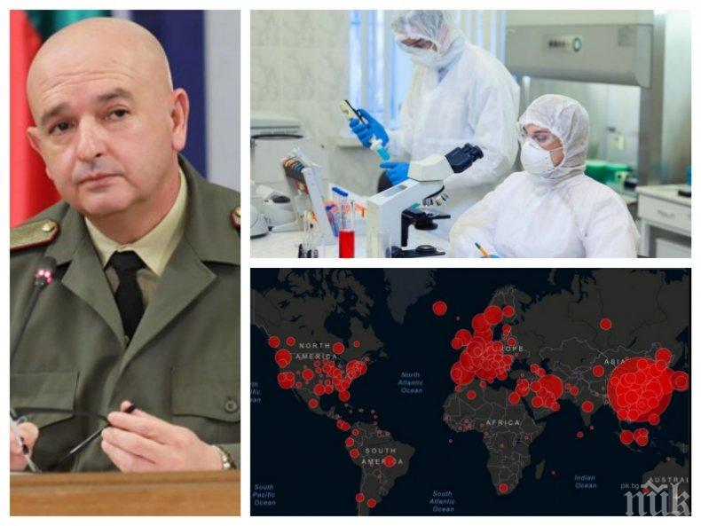 ИЗВЪНРЕДНО В ПИК TV! Ген. Мутафчийски: Двама мъже починаха - 477 са заразените, 30 са излекуваните. Съпругата на д-р Адемов също е с коронавирус (ВИДЕО/ОБНОВЕНА)