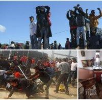 ПОХОДЪТ НА ИСЛЯМА: Мигранти палят, грабят и рушат църкви в Гърция - разкопаха и гробище (СНИМКИ)