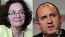 Политологът Румяна Коларова разби Румен Радев: Грешки, некомпетентен екип и сринат рейтинг! Риториката на президента е неадекватна за ситуацията