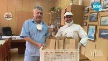 """Филип от """"Хелс китчън"""" дари 4600 козунака на болници във Варна (СНИМКИ)"""