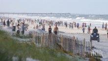 ИДИОТИЯТА В САЩ: Тълпи плъзнаха по плажовете на Флорида (СНИМКИ)