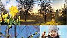 ПРОЛЕТЕН РАЗКОШ: Затоплянето продължава, температурите скачат до 22 градуса