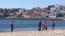 Плажуващ, нарушил карантината, опита да удави полицай в морето (ВИДЕО)