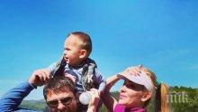 Синът на Антония Петрова покори първия си връх (СНИМКИ)
