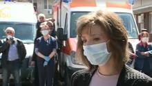 """Тревожни сирени на линейки изпращат д-р Нели Пандова. 15 колеги на починалата лекарка от """"Спешна помощ"""" заразени"""