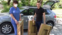 Депутатът от ГЕРБ Стефан Апостолов дари 6 телевизора на Инфекциозното отделение на МБАЛ - Благоевград