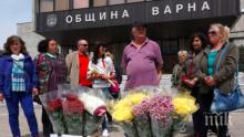 Цветарите във Варна протестират, искат по-малки наеми