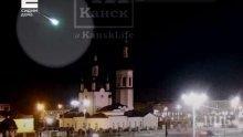 ЗРЕЛИЩНО: Метеор се разби с гръм и трясък в Красноярския край в Русия (ВИДЕО)