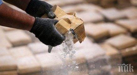 балкански трафик албанците заловиха кила хероин млн евро
