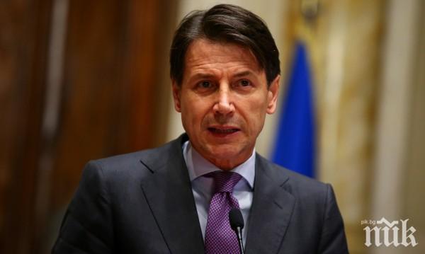Премиерът на Италия: Предприемаме премерен риск с разхлабването на мерките