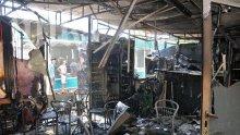 """Пожар изпепели заведение на пазара в столичния """"Дружба"""" (снимки)"""