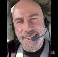 Насред изолацията Джон Траволта се поразходи с... частния си самолет