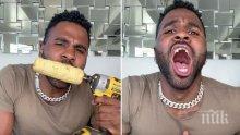 Джейсън Деруло счупи зъб с опасно предизвикателство