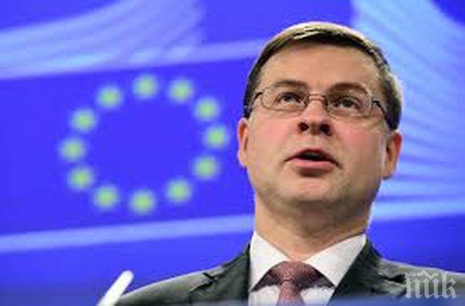 Валдис Домбровскис отхвърли фейк новината, че мониторингът над България продължава