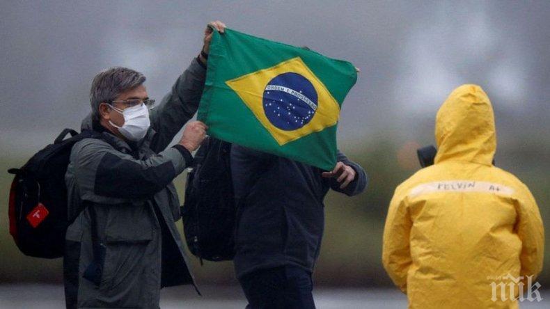 Близо 20 000 новозаразени с коронавируса в Бразилия за денонощие