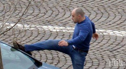 ДИВ ЕКШЪН: Шофьор налетя на друг след лек пътен инцидент в Пловдив
