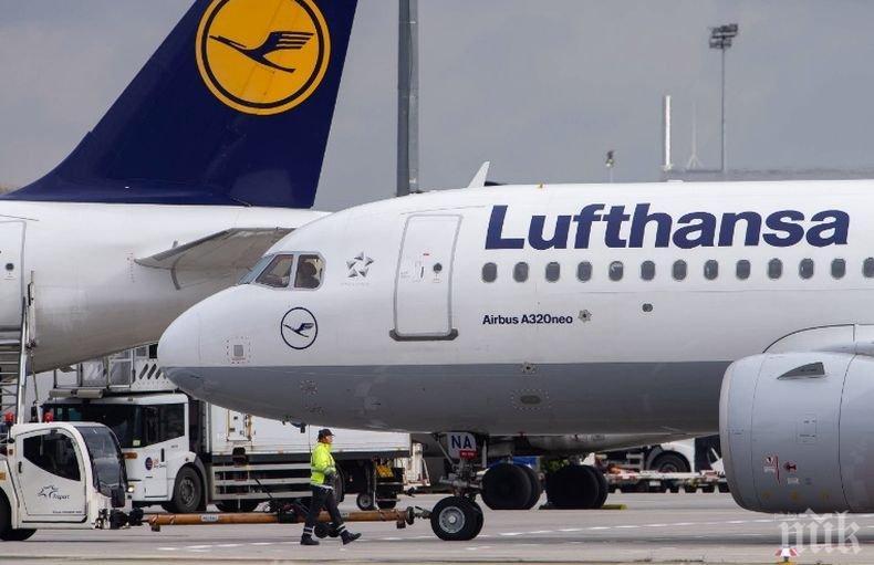"""""""Луфтханза"""" възстановява полетите си до 20 дестинации от средата на юни"""