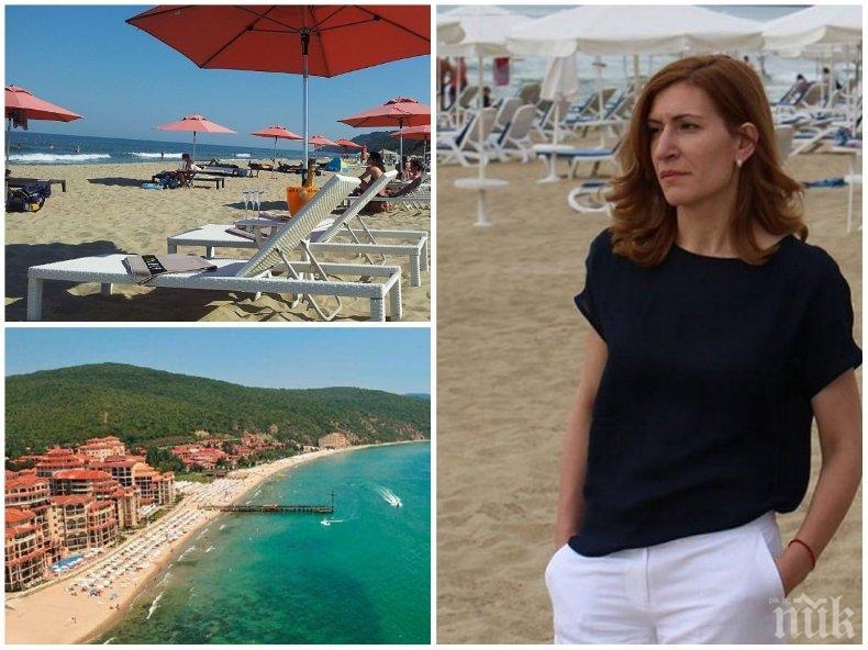 А СЕЗОНЪТ ОЩЕ НЕ Е ЗАПОЧНАЛ! Николина Ангелкова предупреди за голяма шашма на българските плажове