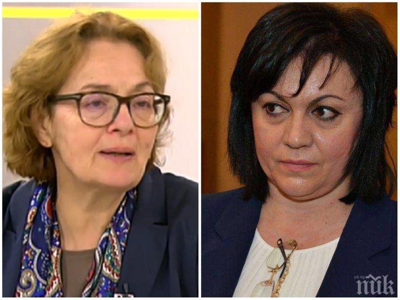 Проф. Румяна Коларова за делото на Нинова срещу доц. Буруджиева: Търси консолидация на ядрото на БСП