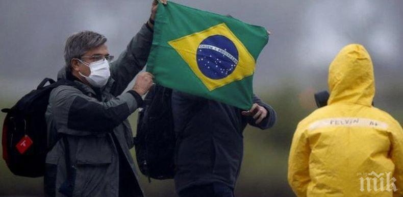 Бразилия вече е на четвърто място в света по смъртни случаи от COVID-19
