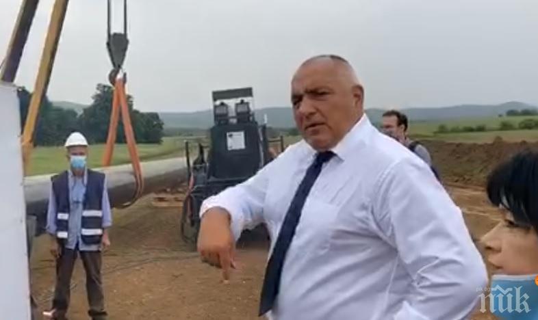 """В ОЧАКВАНЕ НА ВУЧИЧ: Премиерът Борисов показа """"Балкански поток"""" в уникално ВИДЕО"""